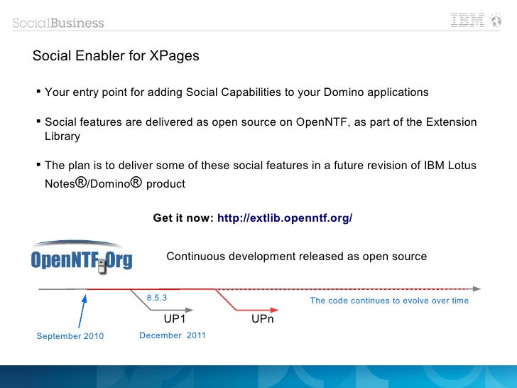Social Enabler for XPages Your entry point for adding Social Capabilities to your Domino applications Social features ar...
