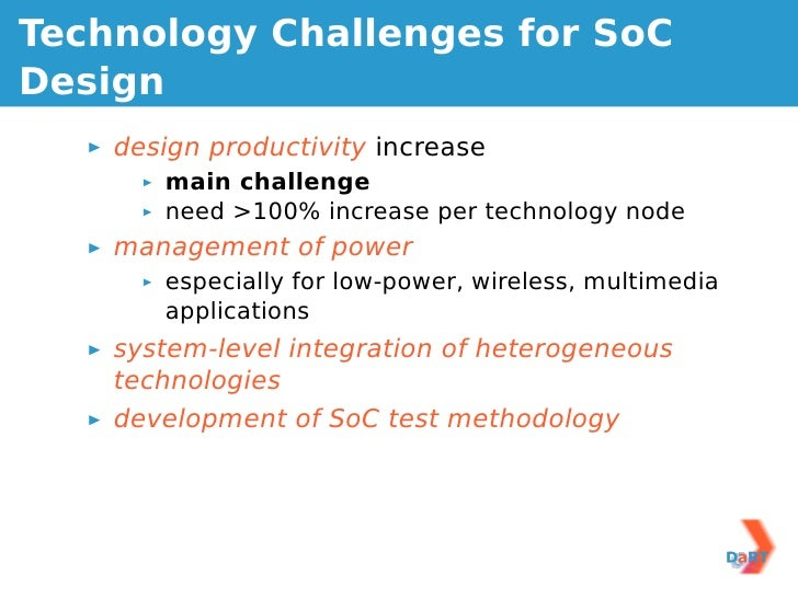 System On Chip Design Embedded System Design Challenges