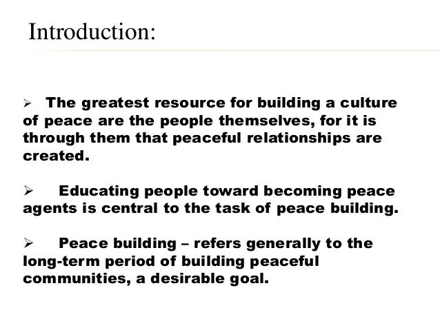 peace the practice of intercultural respect Peace: the practice of intercultural respect, reconciliation and solidarity the concept of peace has been around longer than one can imagine and although it can be.