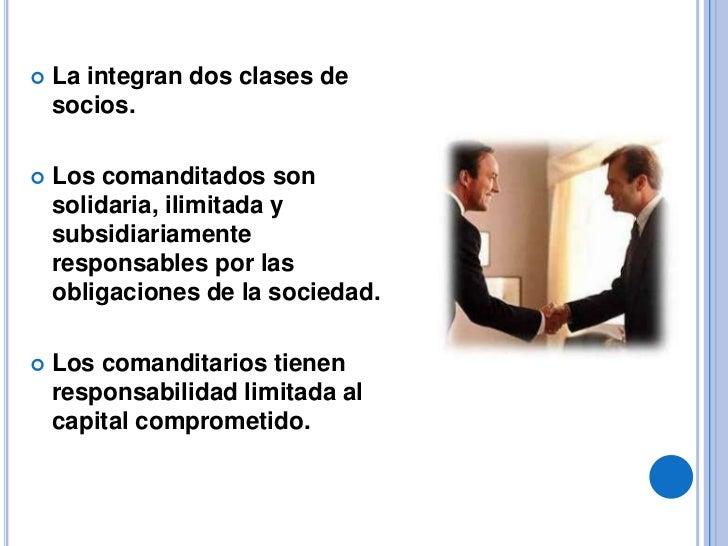    Solo los aportes de los comanditarios se representan    por medio de acciones.   Es legalmente obligatorio consignar ...