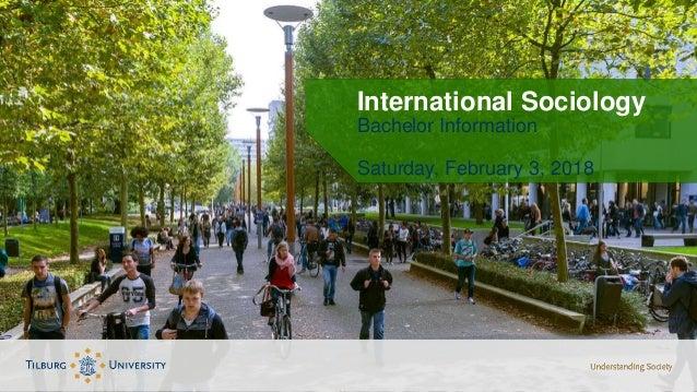 International Sociology Bachelor Information Saturday, February 3, 2018