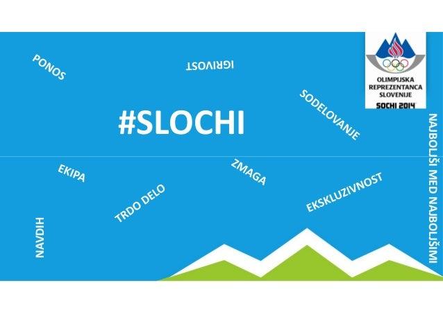 #slochi - učinkovita raba družbenih medijev OKS za projekt Soči 2014 Slide 2