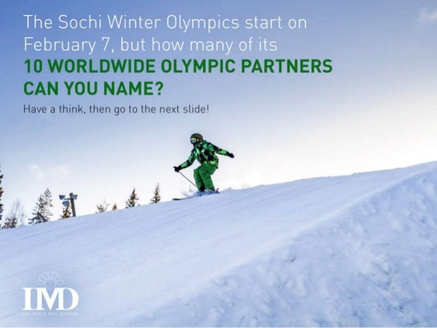 So, How Many Sochi Olympic Sponsors Can You Actually Name? Slide 2