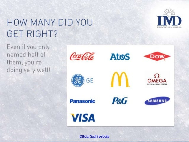 So, How Many Sochi Olympic Sponsors Can You Actually Name? Slide 3