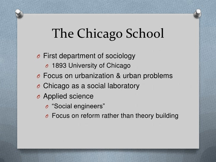 subcultures sociology and chicago school And cultural studies scholars regularly participate in research- and teachingrelated seminars on youth cultures and subcultures the chicago school of sociology.