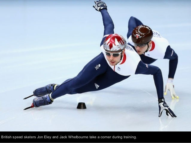 Speed skater Ayaka Kikuchi of Japan reduces the stands of the Adler Arena to blurred lines during training.