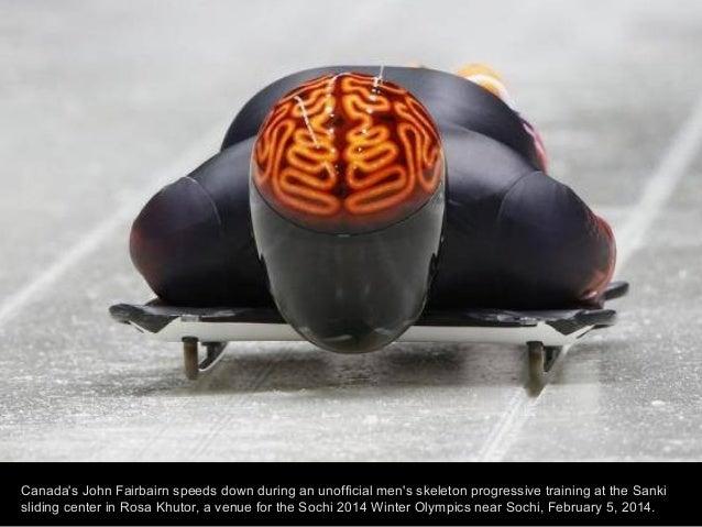 Russia's Albert Demchenko prepares for the start during the men's luge training at the Sanki sliding center in Rosa Khutor...