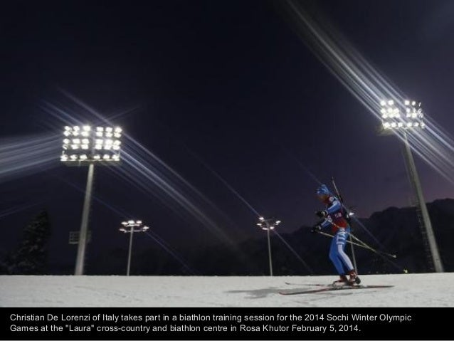 Joey Mantia of the U.S. skates during a men's speed skating 500 meters training competition at the Adler Arena ahead of th...