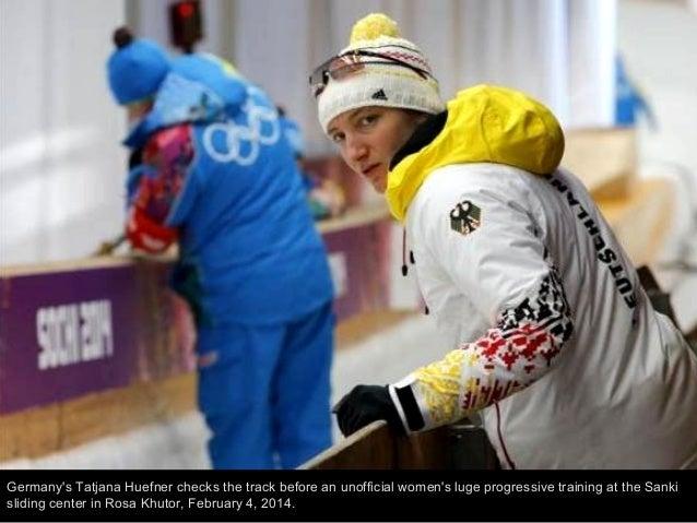 Slovenia's Klemen Kosi kicks off from the start hut in a men's downhill training run for the 2014 Winter Olympics, Thursda...