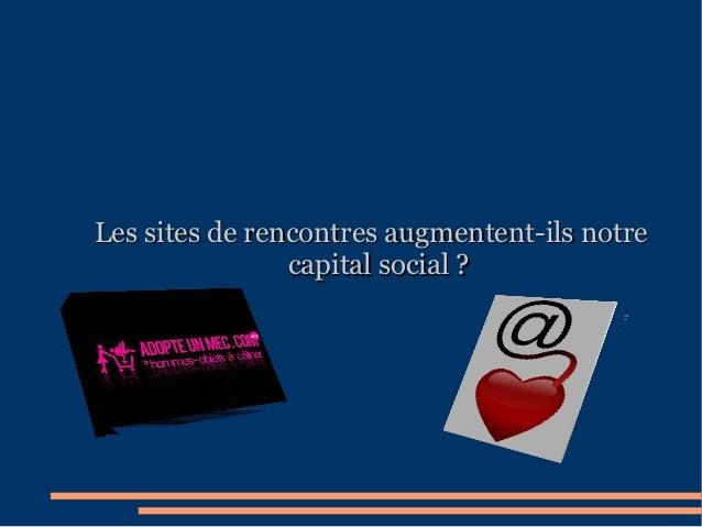 Les sites de rencontres augmentent-ils notre                capital social?