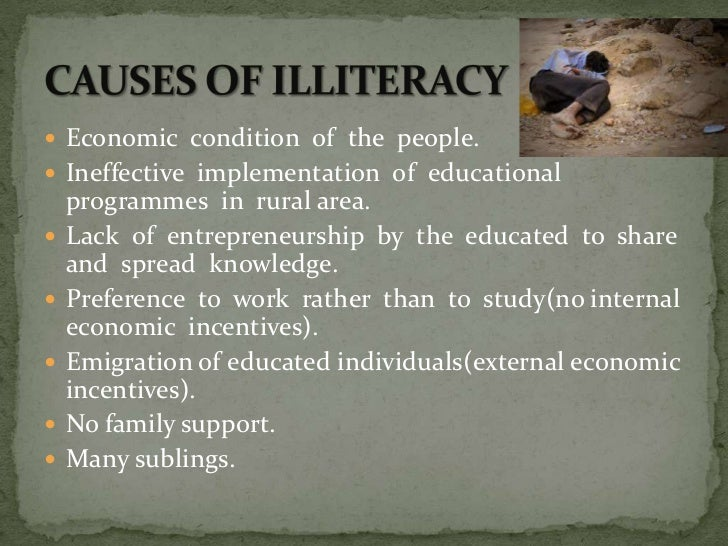 speech on illiteracy essay 24032011  in our country is by far the most serious problem we all recognize that illiteracy is bed, that it prevents the cultural growth of a people but.