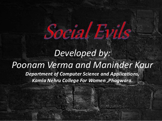 The Evil of Social Networking Sites