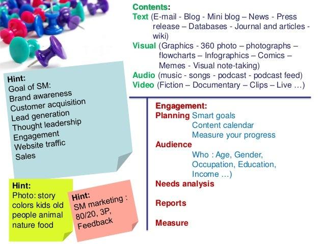 Social Media and Online Tools  Slide 3