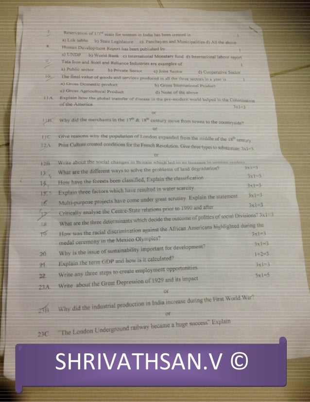 Science Sample Paper For Class 10 Sa2 Pdf