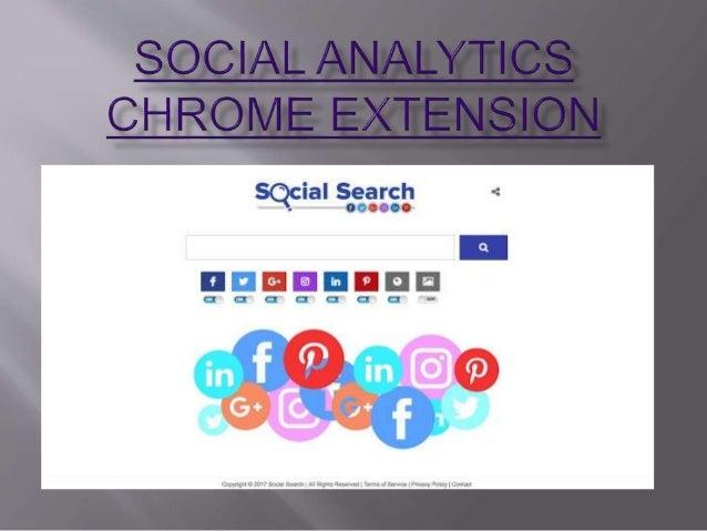 Use Free social analytics chrome extension, social media chrome exten…