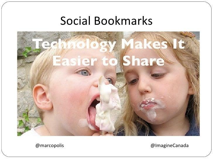 Tools - Trusted Networks Social Bookmarks @marcopolis  @ImagineCanada
