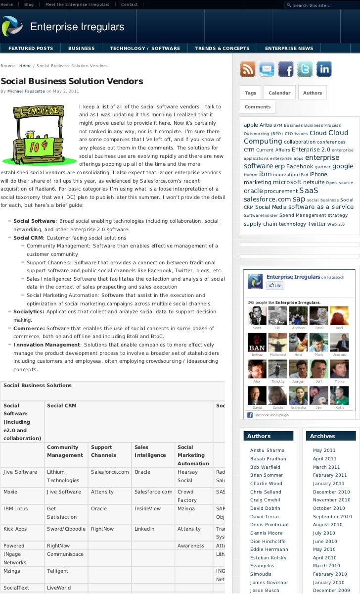 Home       Blog    Meet the Enterprise Irregulars      Contact                                                            ...
