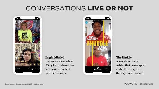 #SMWONE @joelleirvine#SMWONE @joelleirvineImage source: @mileycyrus & @adidas on Instagram CONVERSATIONS LIVE OR NOT Brigh...