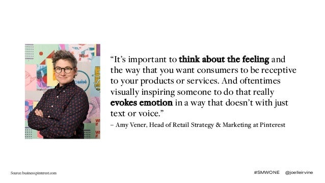 """#SMWONE @joelleirvine """"It's important to think about the feeling and the way that you want consumers to be receptive to yo..."""