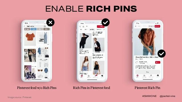 #SMWONE @joelleirvine ENABLE RICH PINS Pinterest Rich Pin Image source: Pinterest Rich Pins in Pinterest feedPinterest fee...