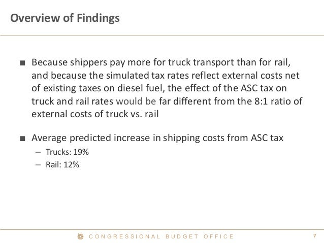 C O N G R E S S I O N A L B U D G E T O F F I C E 7  Overview of Findings  ■  Because shippers pay more for truck transpor...