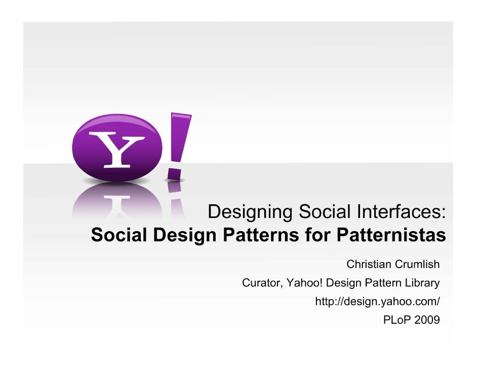 Social Design For Patternistas