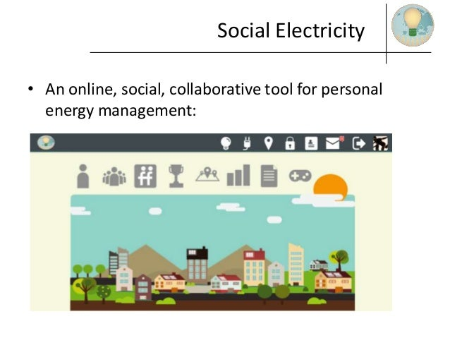 Social Electricity • An online, social, collaborative tool for personal energy management:
