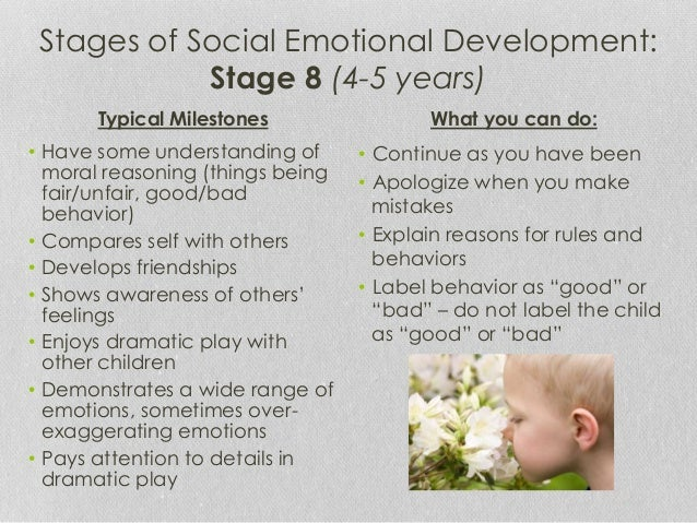 Social emotional development in special needs children 0 5 for Moral development 0 19 years chart