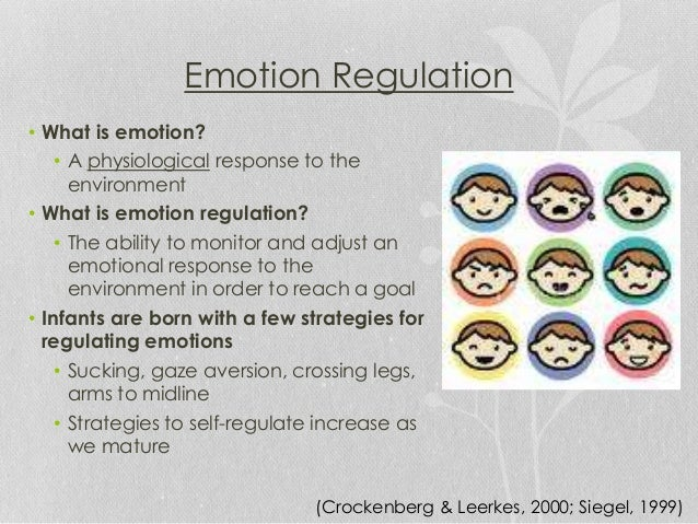 importance of emotion regulation for children This study investigated the role of emotion regulation in children's early academic success using a sample of 325 kindergarteners a mediational analysis addressed the potential mechanisms through which emotion regulation relates to children's early academic success.