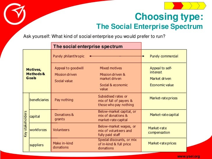 Social enterprise plan financial plan choosing type the social enterprise spectrum ask yourself wha friedricerecipe Images