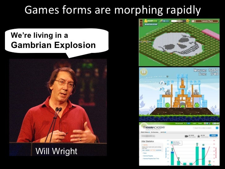 Games forms are morphing rapidly We're living in a  Gambrian Explosion Will Wright