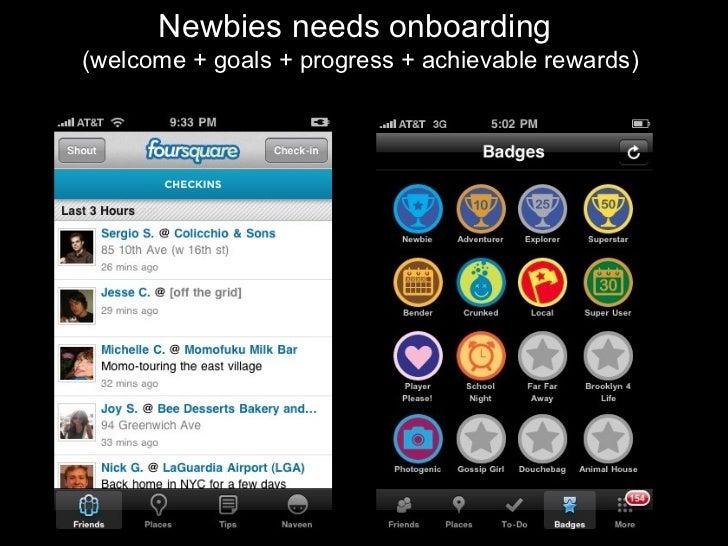 Newbies needs onboarding  (welcome + goals + progress + achievable rewards)