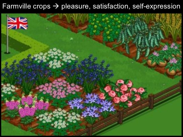 Farmville crops    pleasure, satisfaction, self-expression