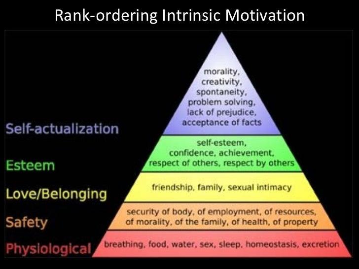 Rank-ordering Intrinsic Motivation