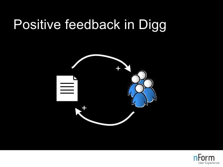 Positive feedback in Digg