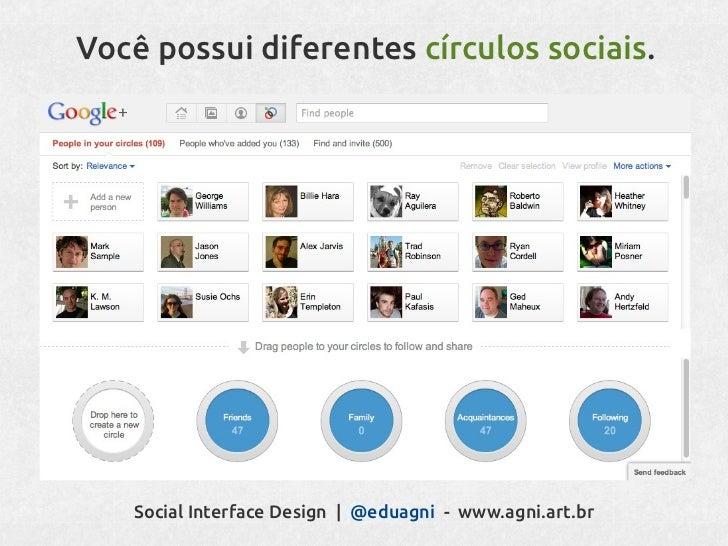 Você tem uma história.Social Interface Design   @eduagni - www.agni.art.br
