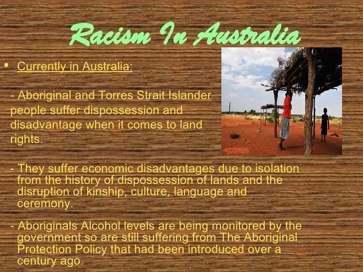 an analysis of the effect of racism on the australian society Racism in australia racism is visibly a continuing pattern in australian society it has been prevalent for many years, and has infiltrated through many generations of australians it is a highly observable fact, yet often ignored.