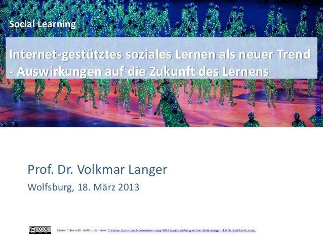 Social LearningInternet-gestütztes soziales Lernen als neuer Trend- Auswirkungen auf die Zukunft des Lernens              ...