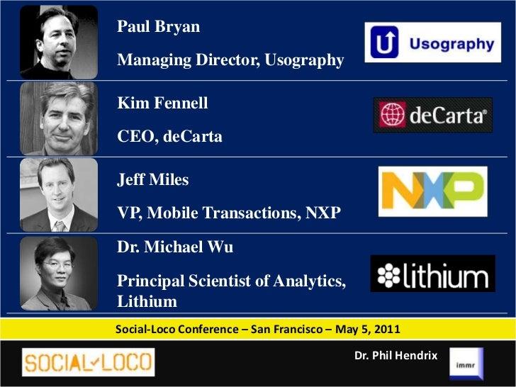 M-Commerce - Social-Loco Slides - Dr. Phil Hendrix, immr Slide 2