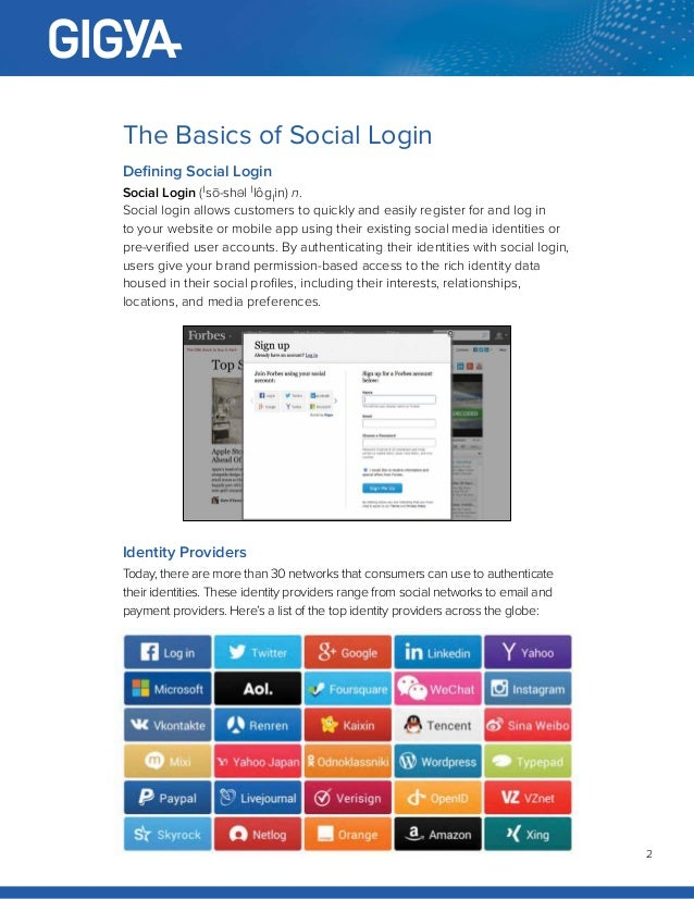 White Paper: Social Login 101