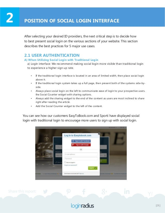 | 4 | b) User Registration Page: We highly recommend showing the social login interface on the registration page, as well....