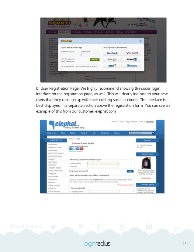 | 5 | B) When Utilizing Social Login Only (no traditional login system) We recommend the following practices: • Show the ...