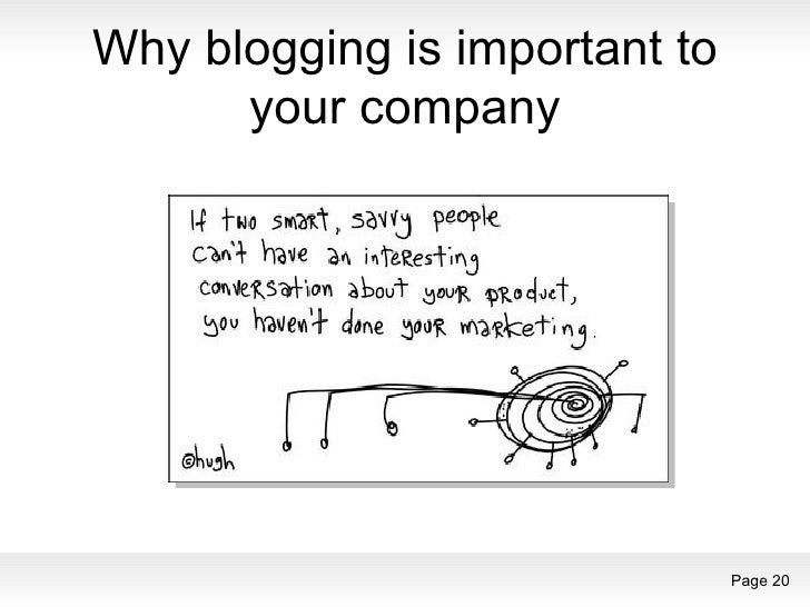 Why blogging is important to your company