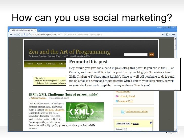 How can you use social marketing?