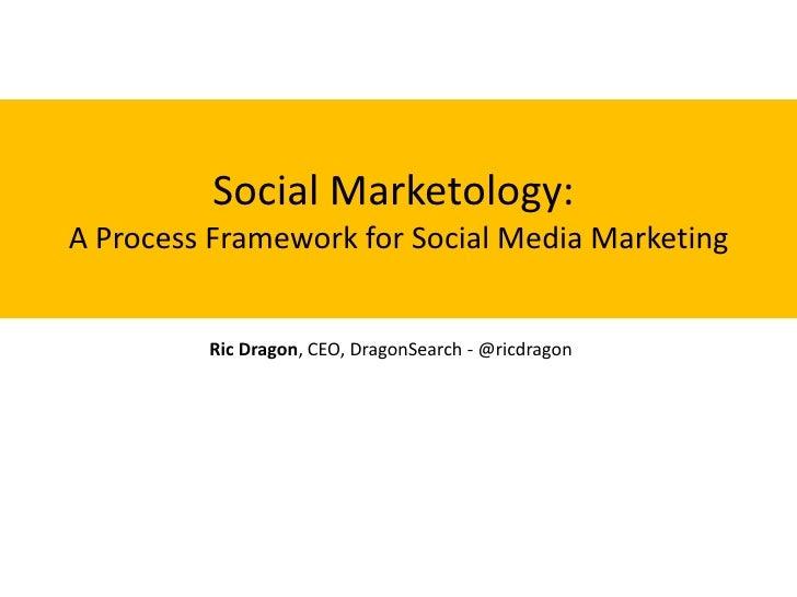 Social Marketology:A Process Framework for Social Media Marketing         Ric Dragon, CEO, DragonSearch - @ricdragon