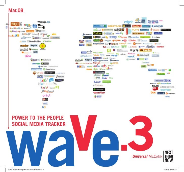 Mar.08     wave.3     Power to the PeoPle     SoCIAl MeDIA trACKer     2413 - Wave 3 complete document AW 3.indd 1   14/4/...
