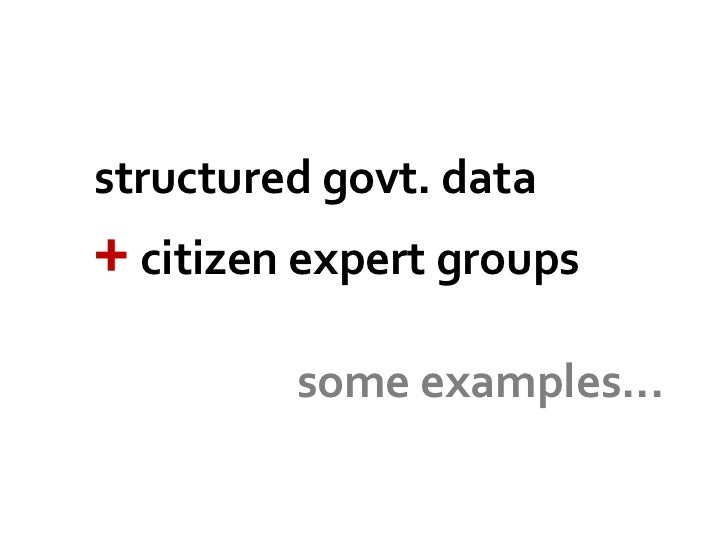 Benefits of Open Government Data