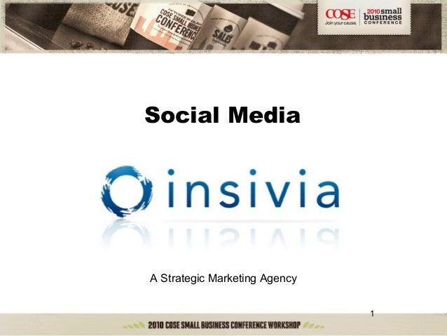 1 Social Media A Strategic Marketing Agency