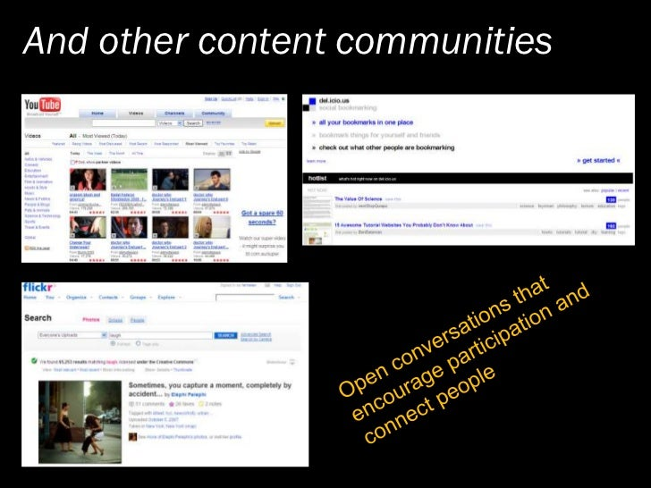 And other content communities