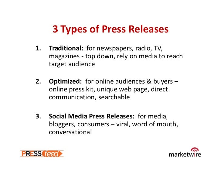 Social Media And Press Release Optimization May09 Webinar Slides